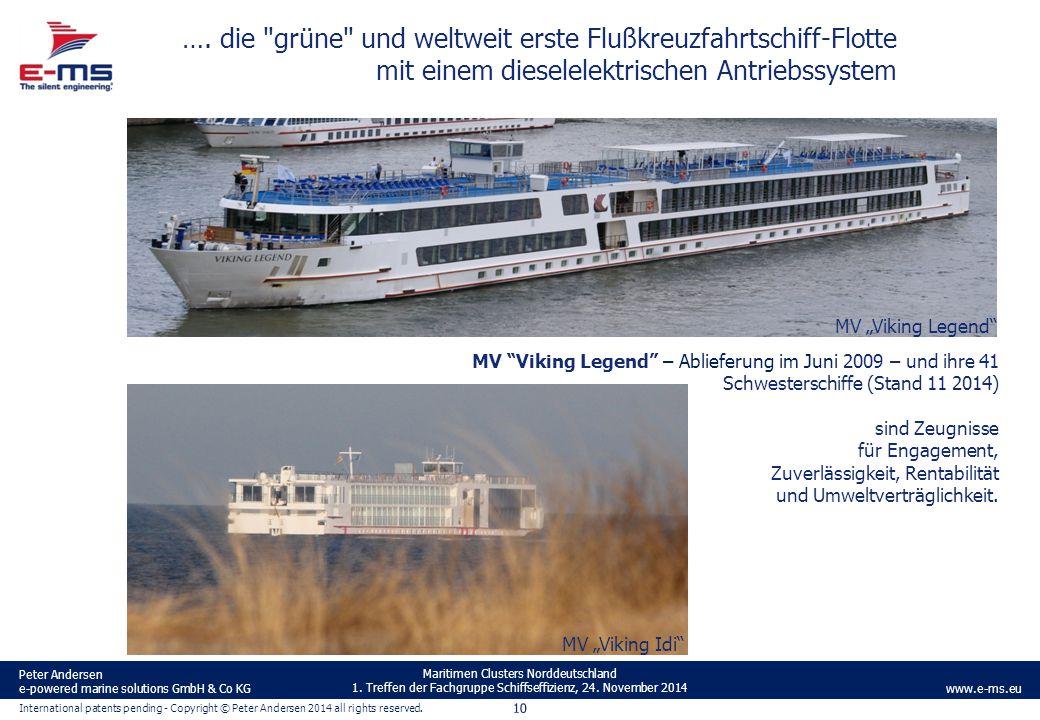 …. die grüne und weltweit erste Flußkreuzfahrtschiff-Flotte mit einem dieselelektrischen Antriebssystem