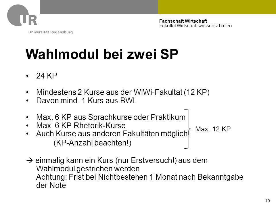 Wahlmodul bei zwei SP 24 KP
