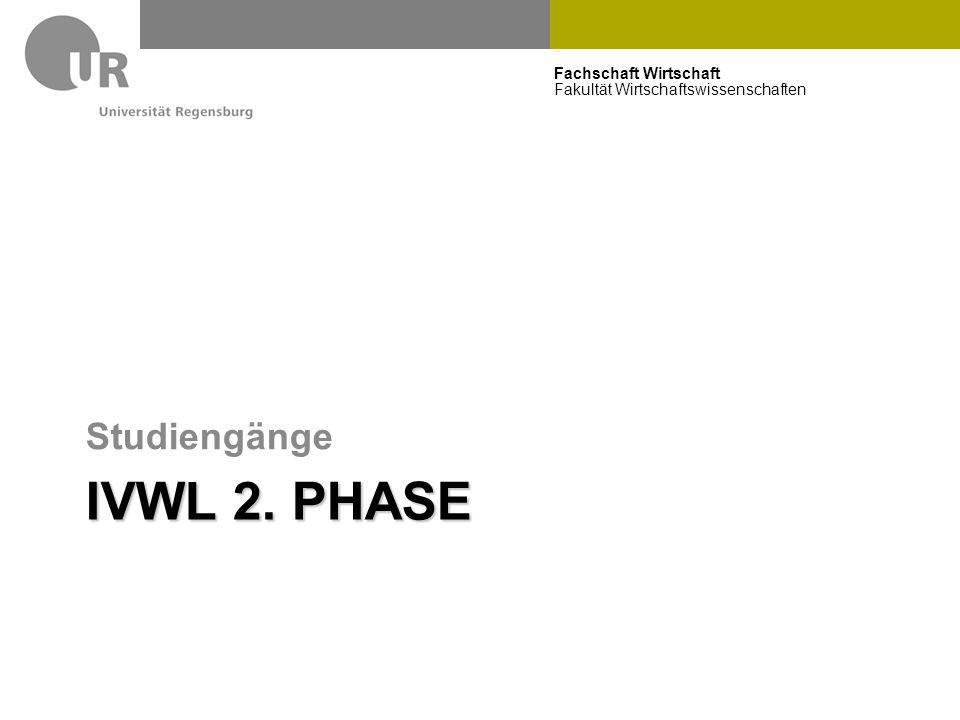Studiengänge IVWL 2. Phase