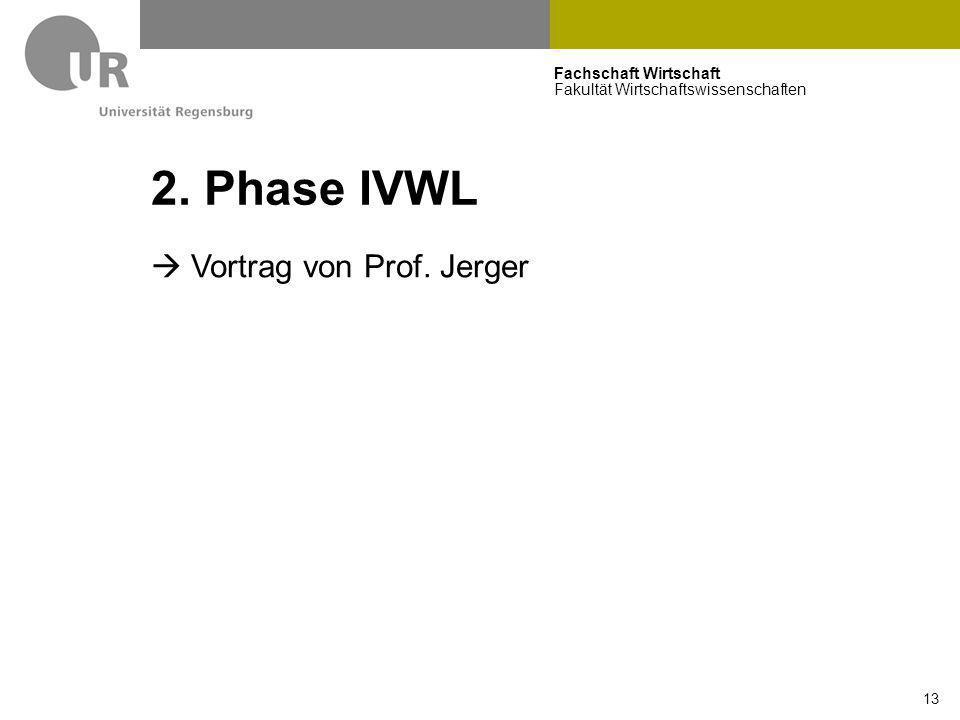 2. Phase IVWL  Vortrag von Prof. Jerger