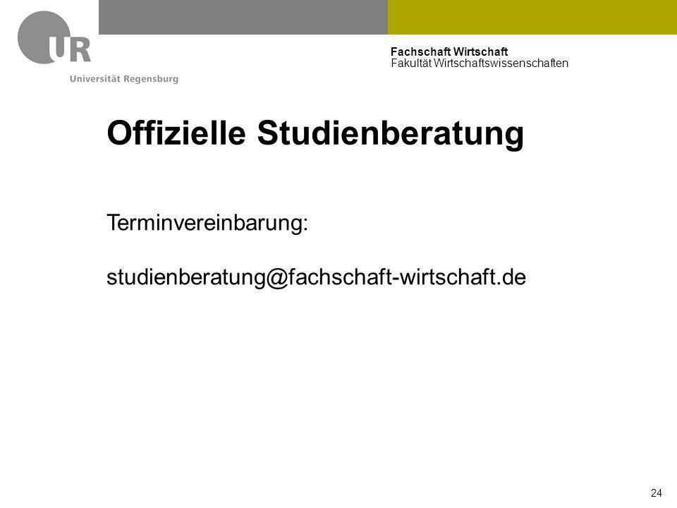 Offizielle Studienberatung
