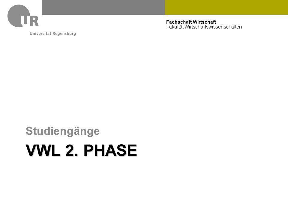 Studiengänge VWL 2. Phase