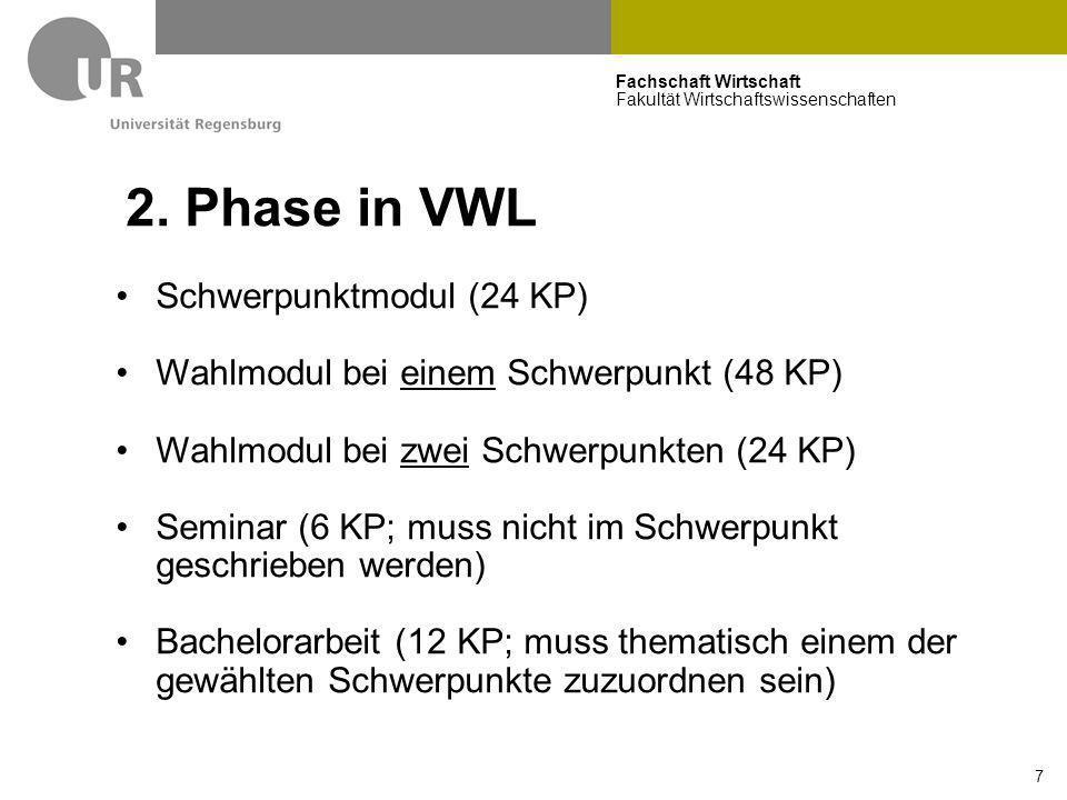 2. Phase in VWL Schwerpunktmodul (24 KP)