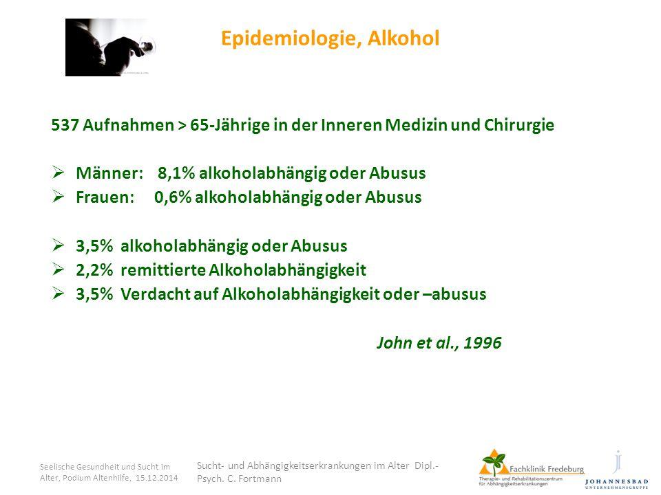 Epidemiologie, Alkohol