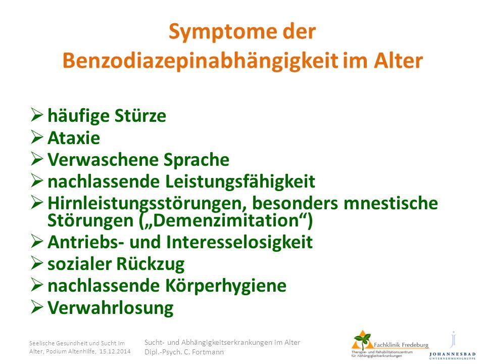 Symptome der Benzodiazepinabhängigkeit im Alter