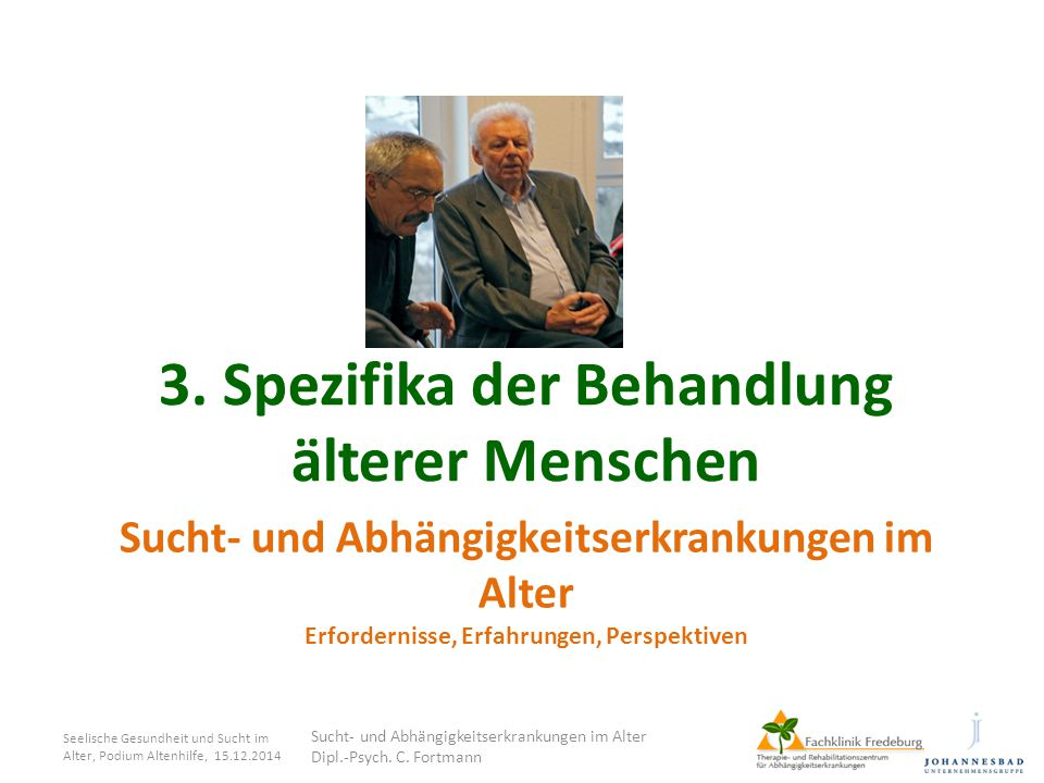 3. Spezifika der Behandlung älterer Menschen