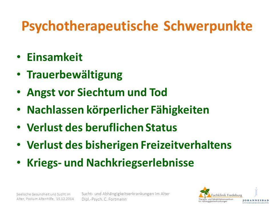 Psychotherapeutische Schwerpunkte