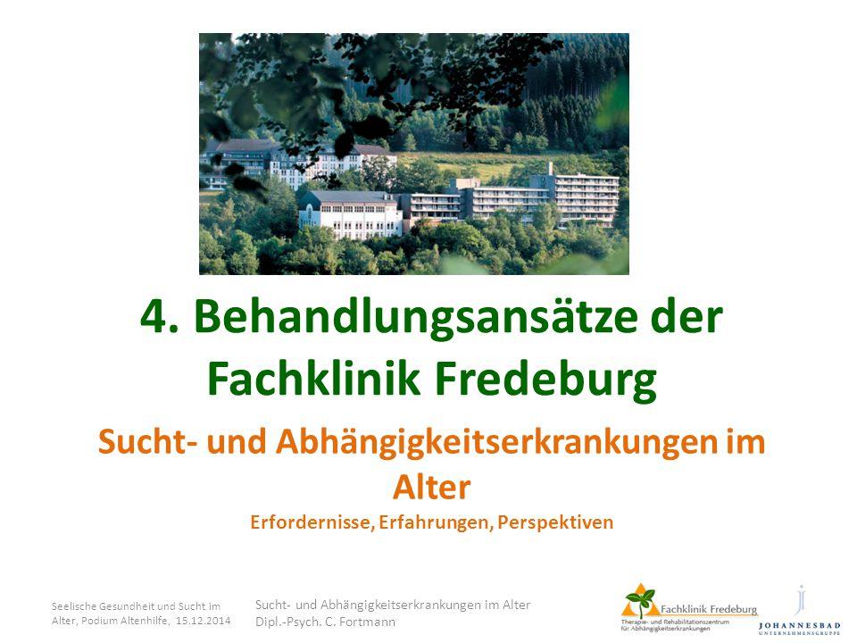 4. Behandlungsansätze der Fachklinik Fredeburg