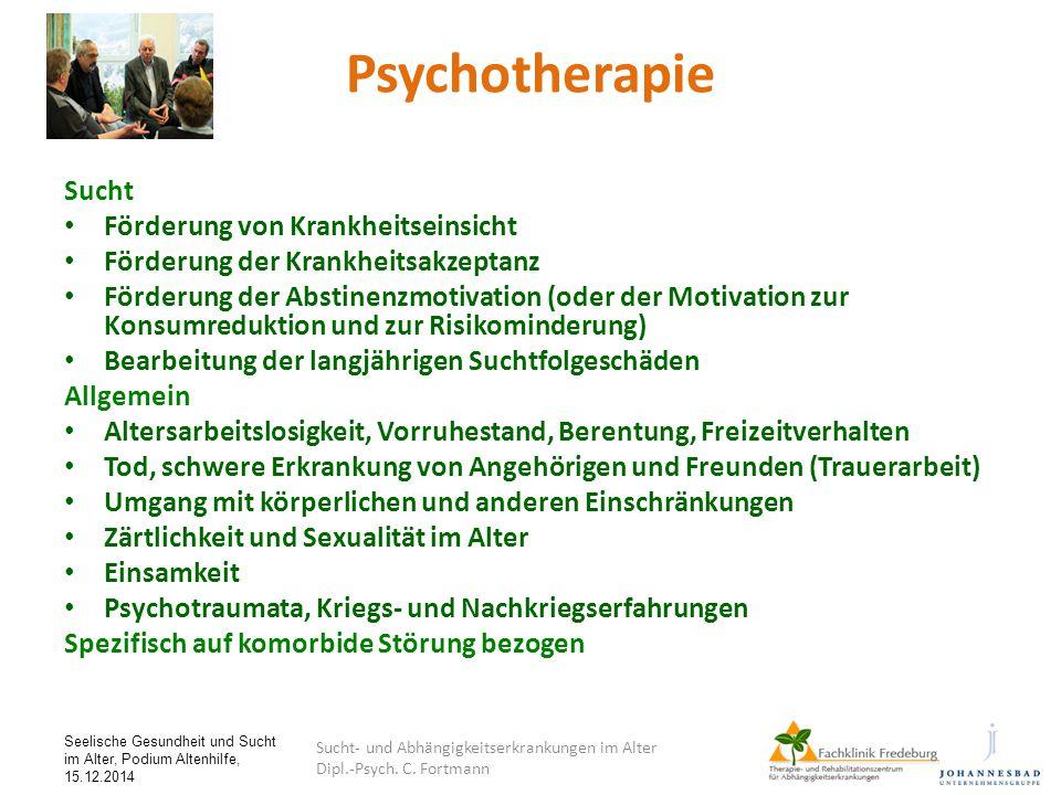 Psychotherapie Sucht Förderung von Krankheitseinsicht