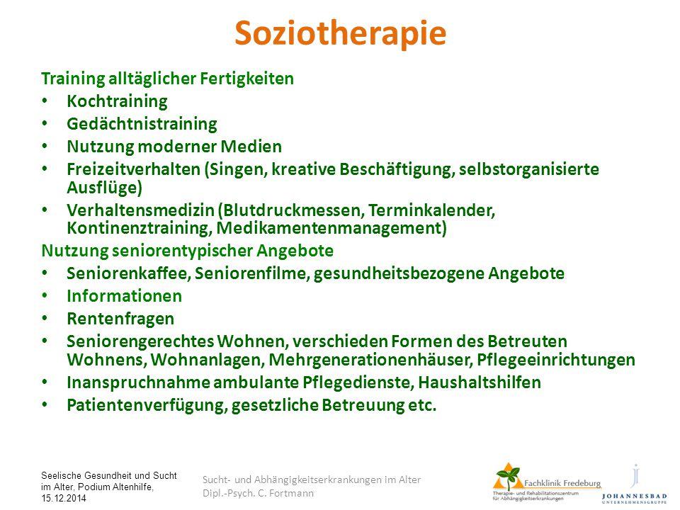Soziotherapie Training alltäglicher Fertigkeiten Kochtraining