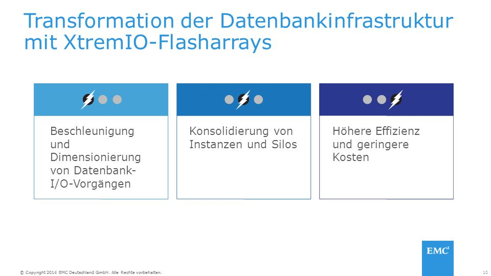 Transformation der Datenbankinfrastruktur mit XtremIO-Flasharrays