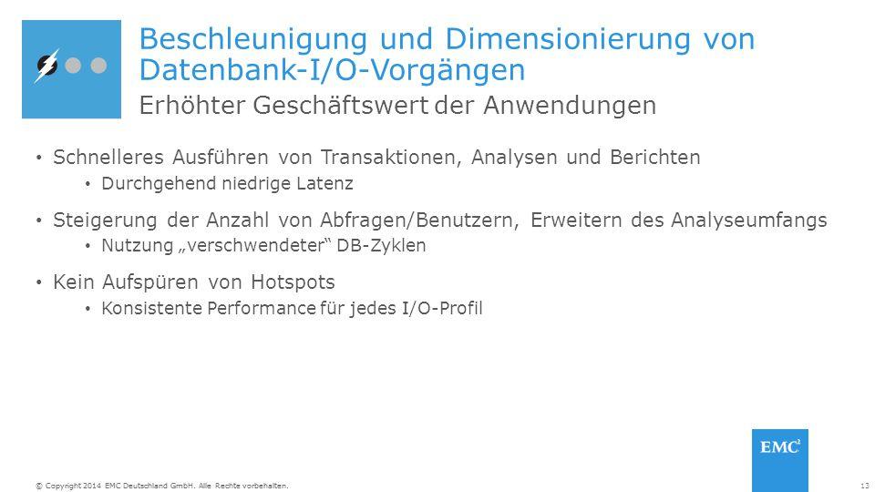 Beschleunigung und Dimensionierung von Datenbank-I/O-Vorgängen