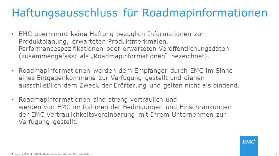Haftungsausschluss für Roadmapinformationen