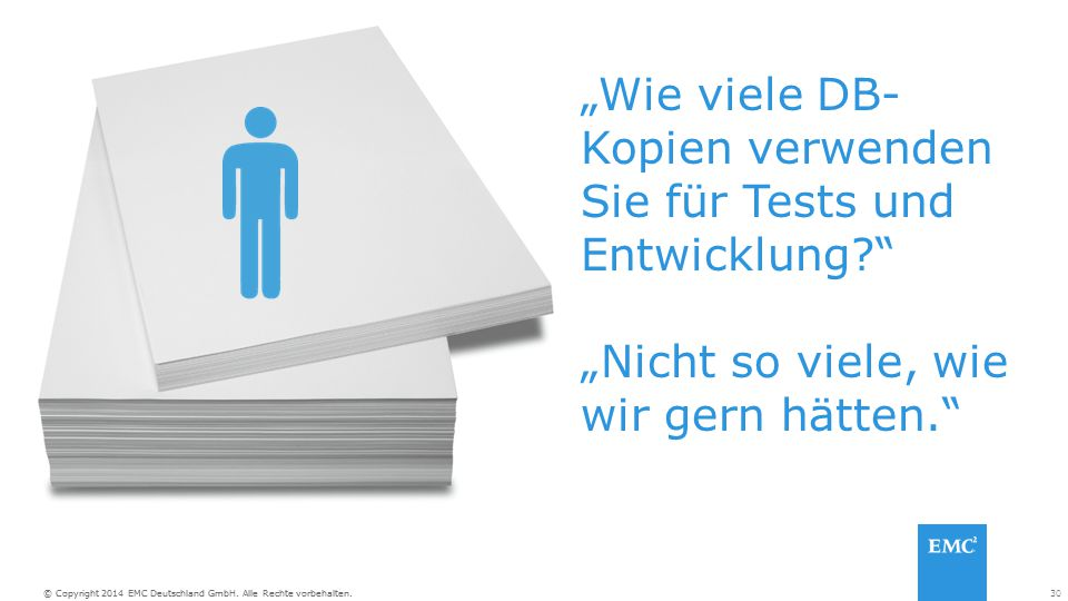 """""""Wie viele DB-Kopien verwenden Sie für Tests und Entwicklung"""