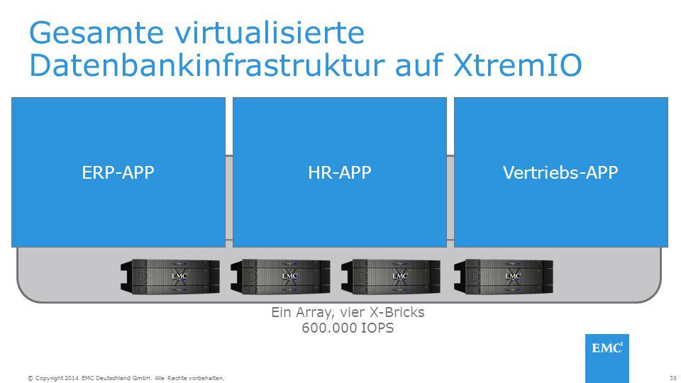 Gesamte virtualisierte Datenbankinfrastruktur auf XtremIO
