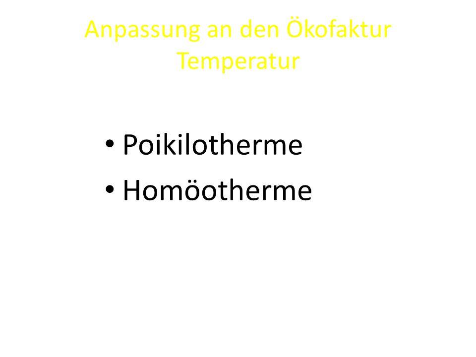 Anpassung an den Ökofaktur Temperatur