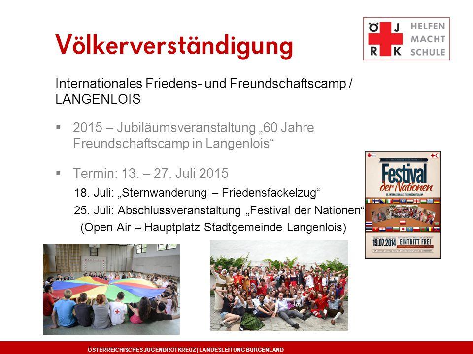 Völkerverständigung Internationales Friedens- und Freundschaftscamp / LANGENLOIS.