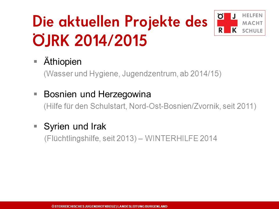 Die aktuellen Projekte des ÖJRK 2014/2015