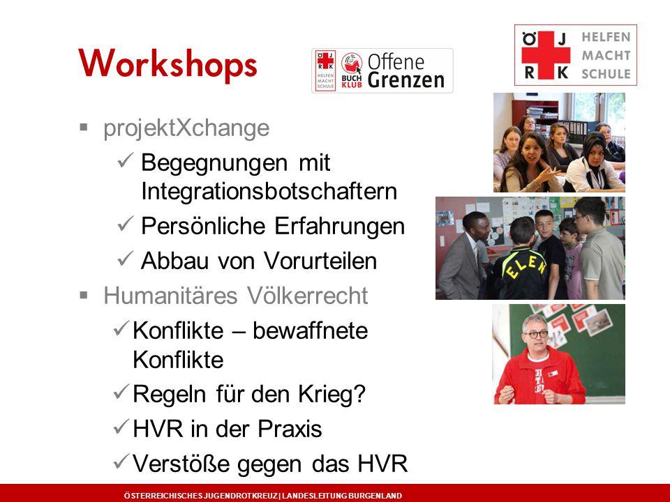 Workshops projektXchange Begegnungen mit Integrationsbotschaftern