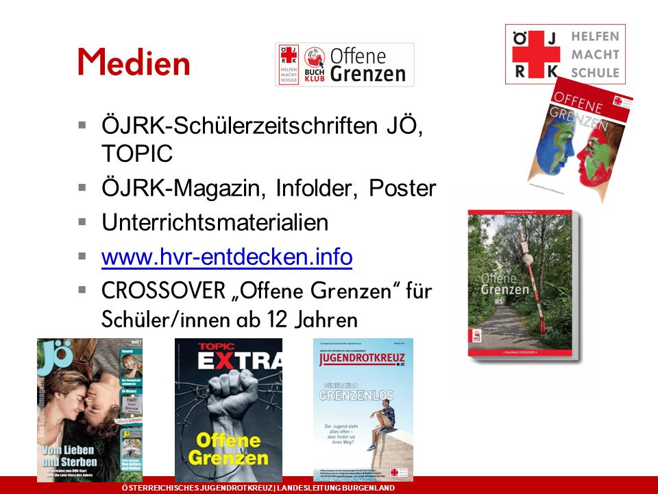 Medien ÖJRK-Schülerzeitschriften JÖ, TOPIC