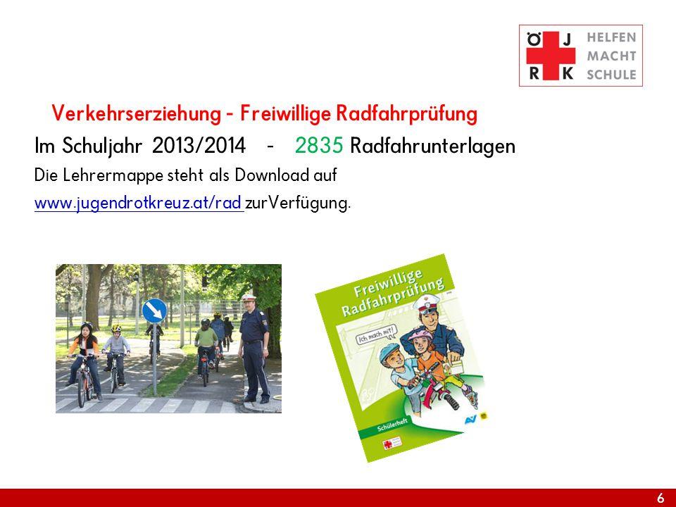 Im Schuljahr 2013/2014 - 2835 Radfahrunterlagen