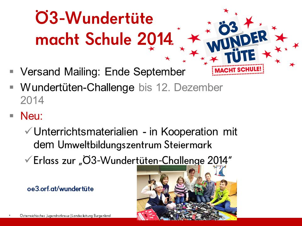 Ö3-Wundertüte macht Schule 2014