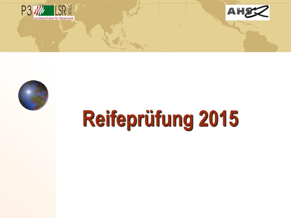 Reifeprüfung 2015
