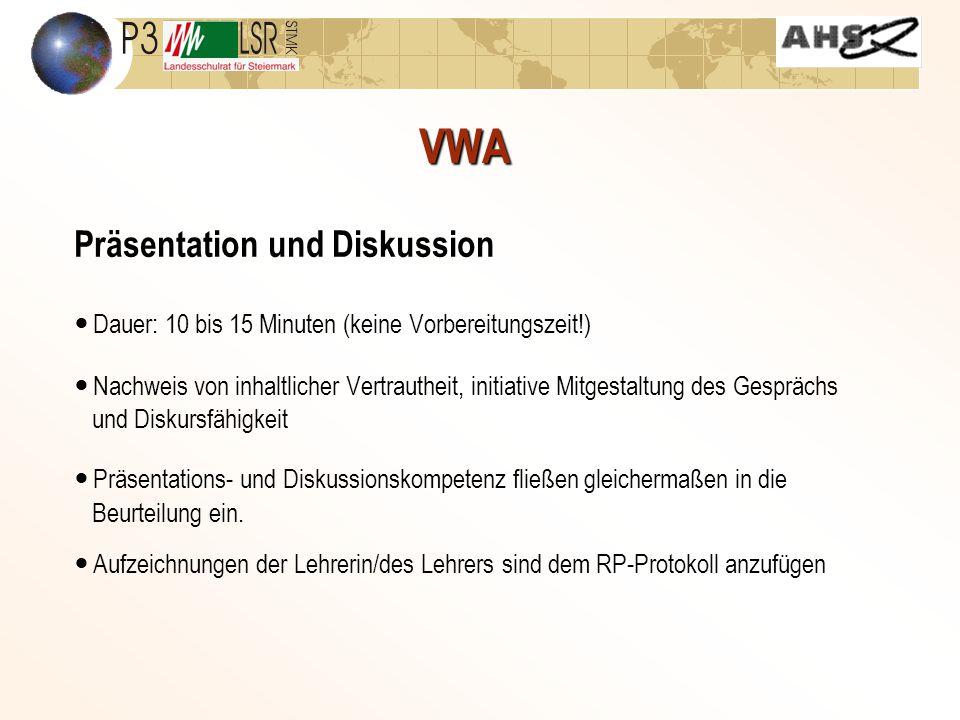 VWA Präsentation und Diskussion
