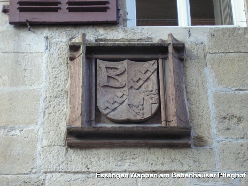 Esslingen Wappen am Bebenhäuser Pfleghof