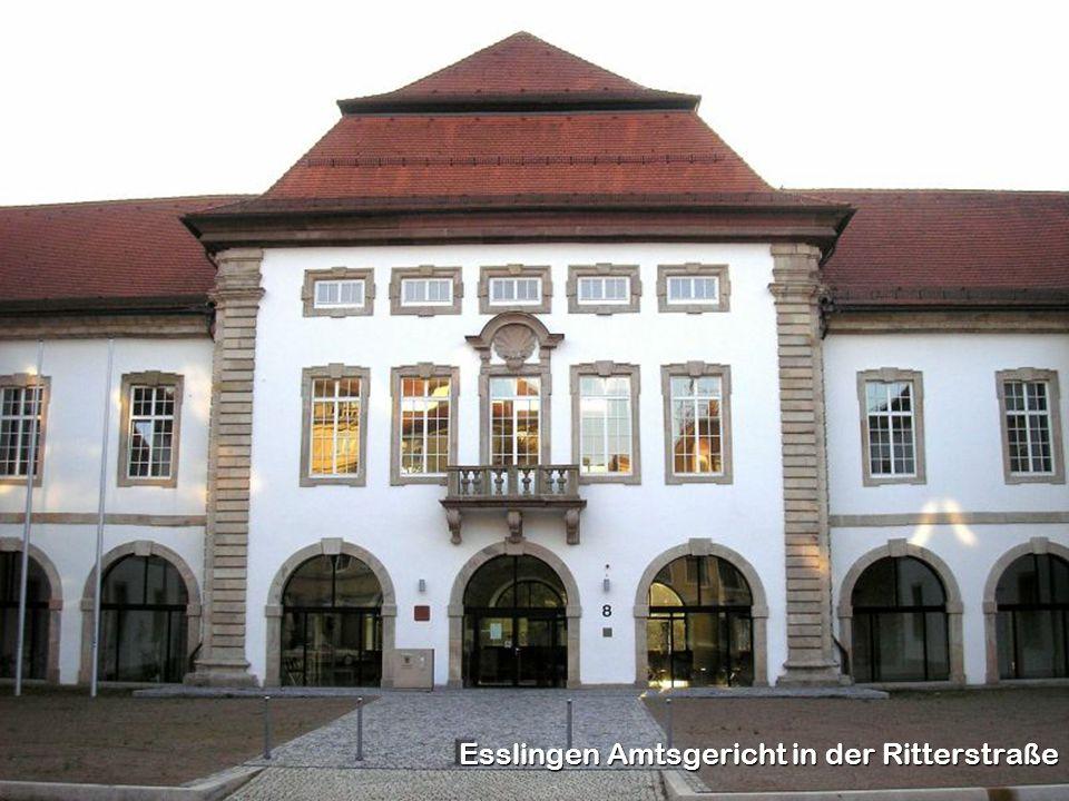 Esslingen Amtsgericht in der Ritterstraße