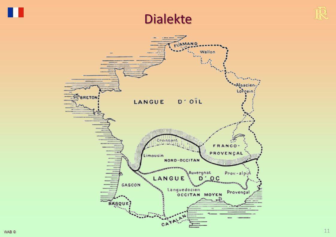 Historische und heutige Sprachgebiete