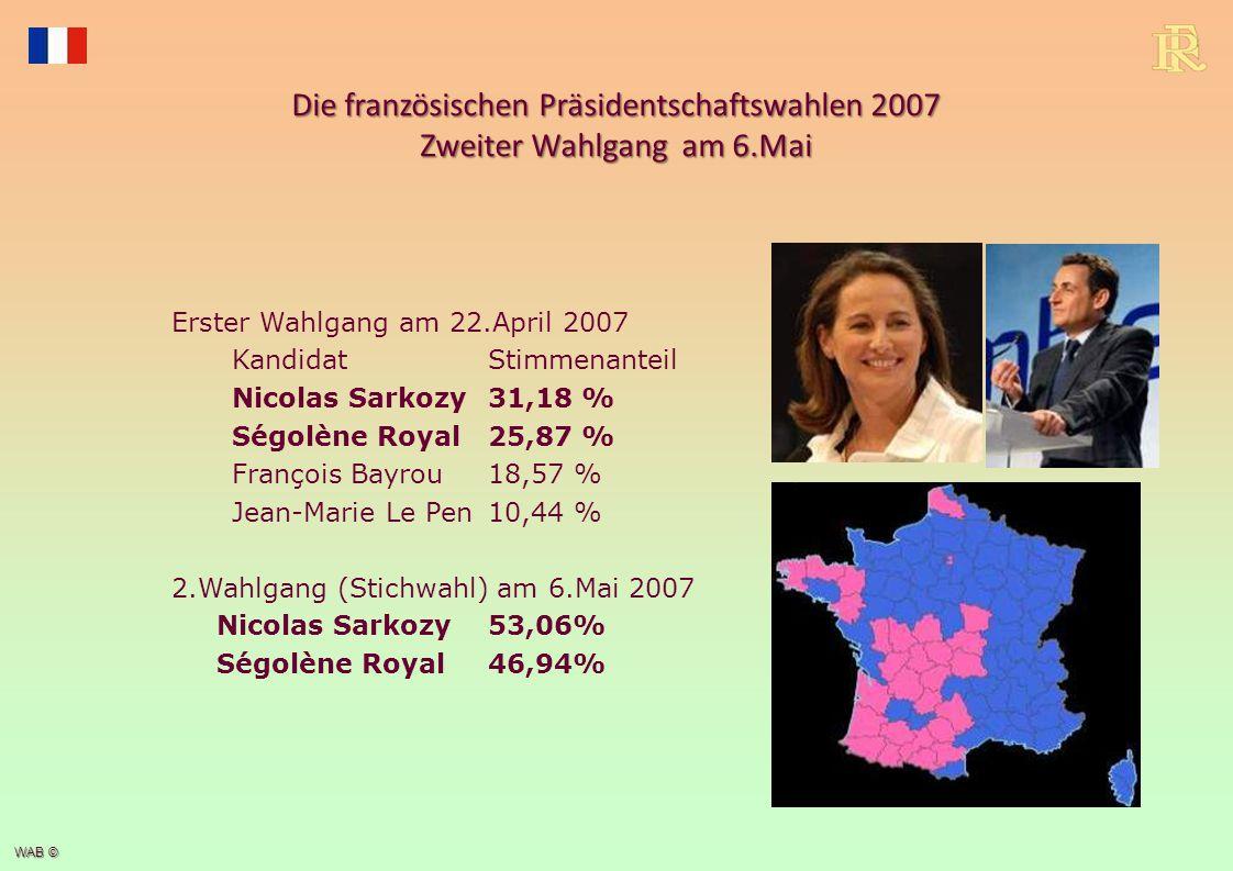 Die französischen Präsidentschaftswahlen 2012 Zweiter Wahlgang am 6