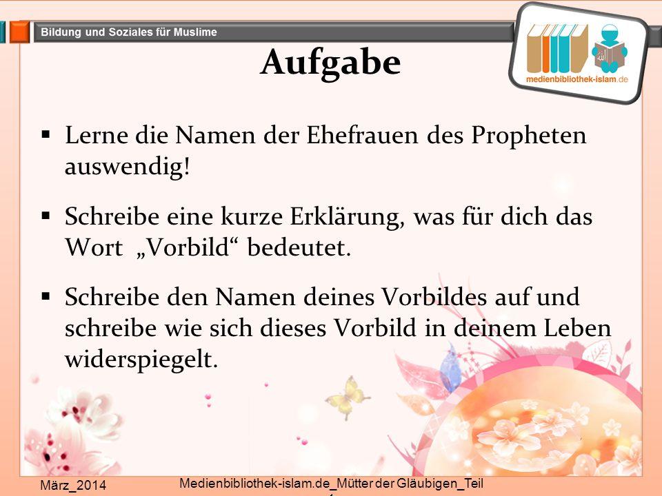 Medienbibliothek-islam.de_Mütter der Gläubigen_Teil 1