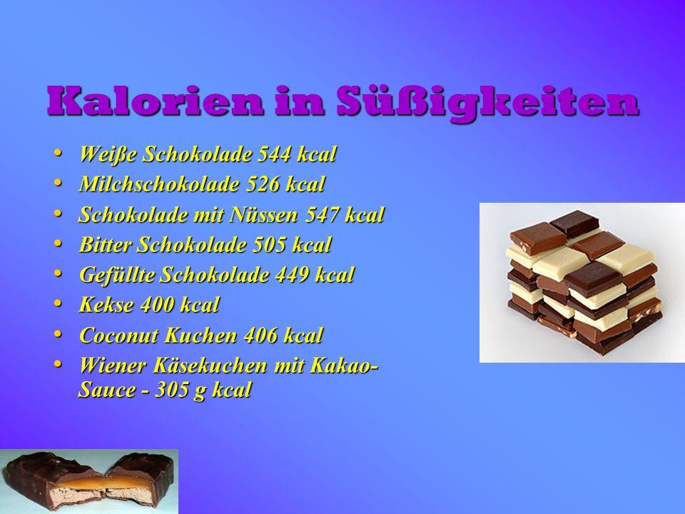 Kalorien in Süßigkeiten