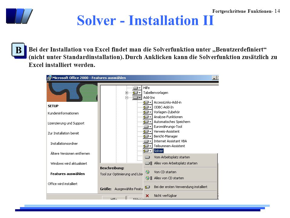 Solver - Installation II