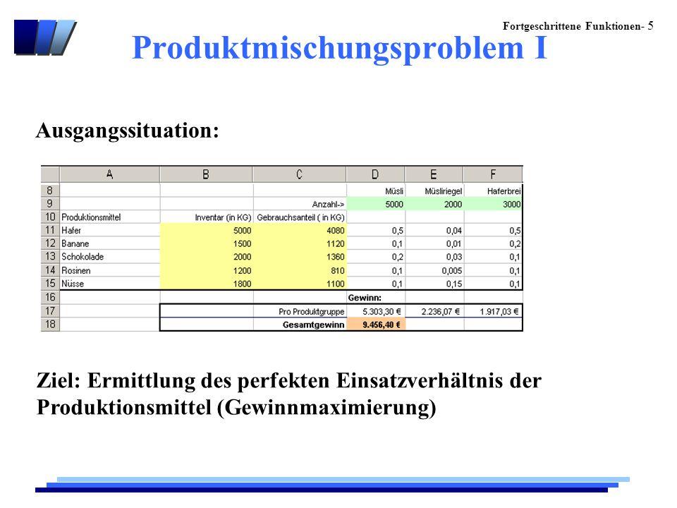 Produktmischungsproblem I