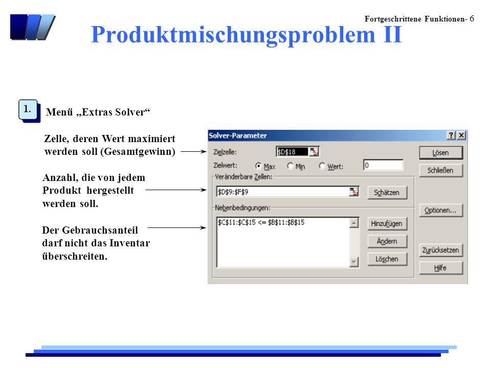 Produktmischungsproblem II