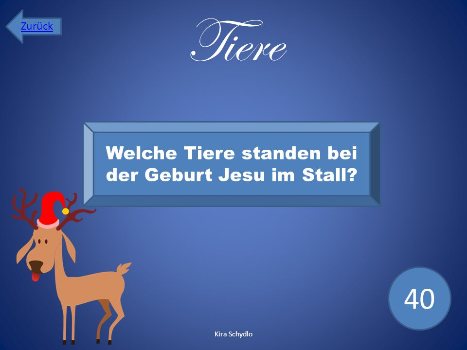 Welche Tiere standen bei der Geburt Jesu im Stall