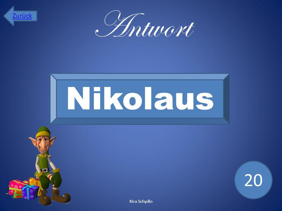 Zurück Antwort Nikolaus 20 Kira Schydlo