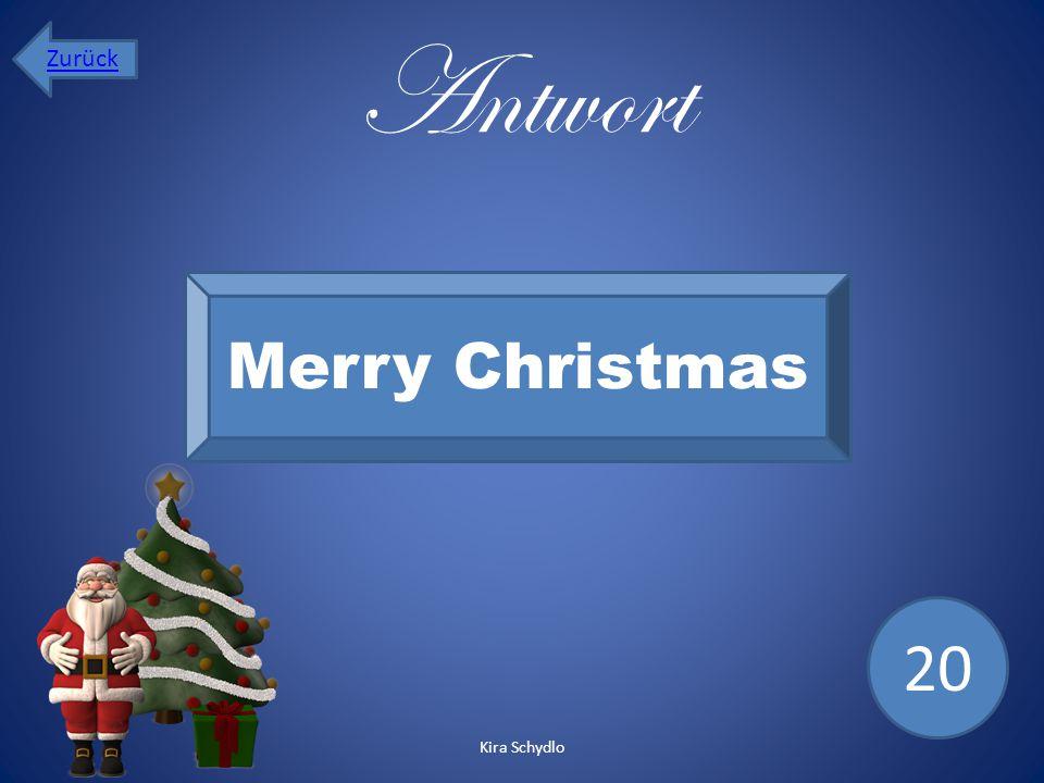 Zurück Antwort Merry Christmas 20 Kira Schydlo
