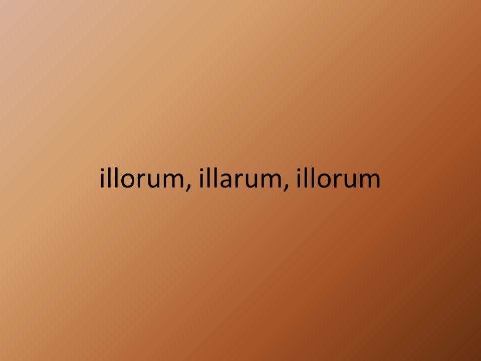 illorum, illarum, illorum