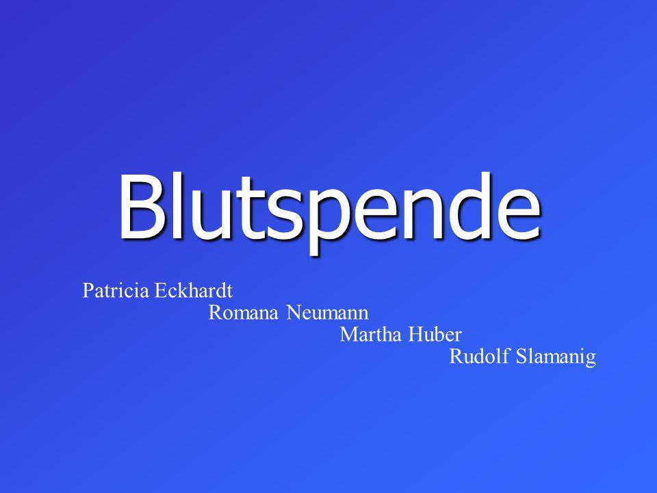 Blutspende Patricia Eckhardt Romana Neumann Martha Huber