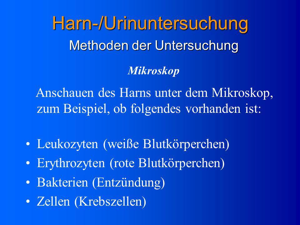 Harn-/Urinuntersuchung