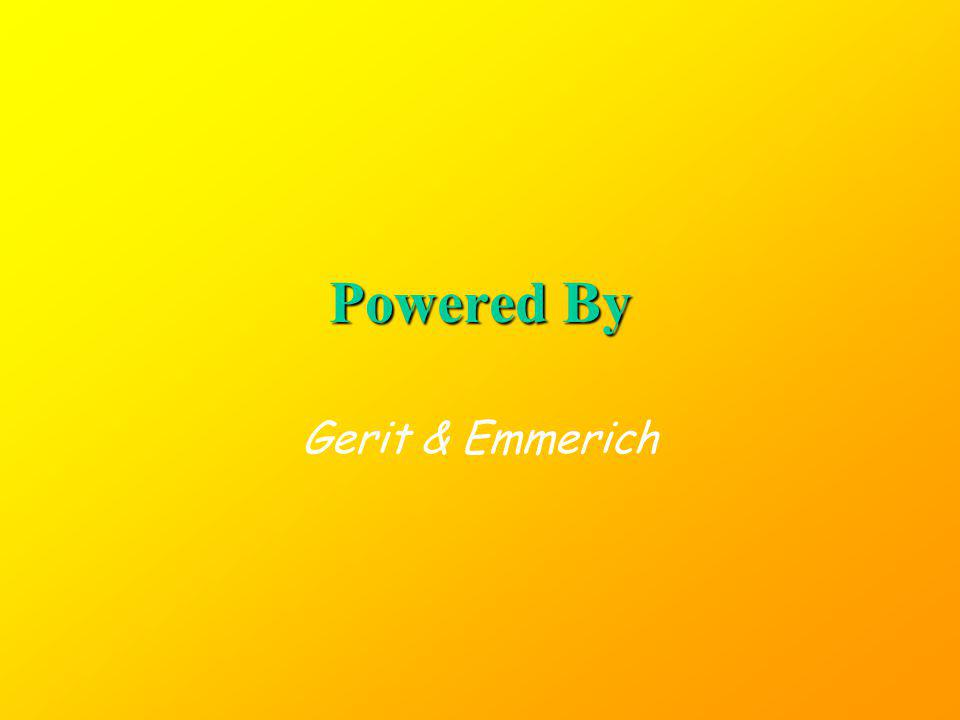 Powered By Gerit & Emmerich