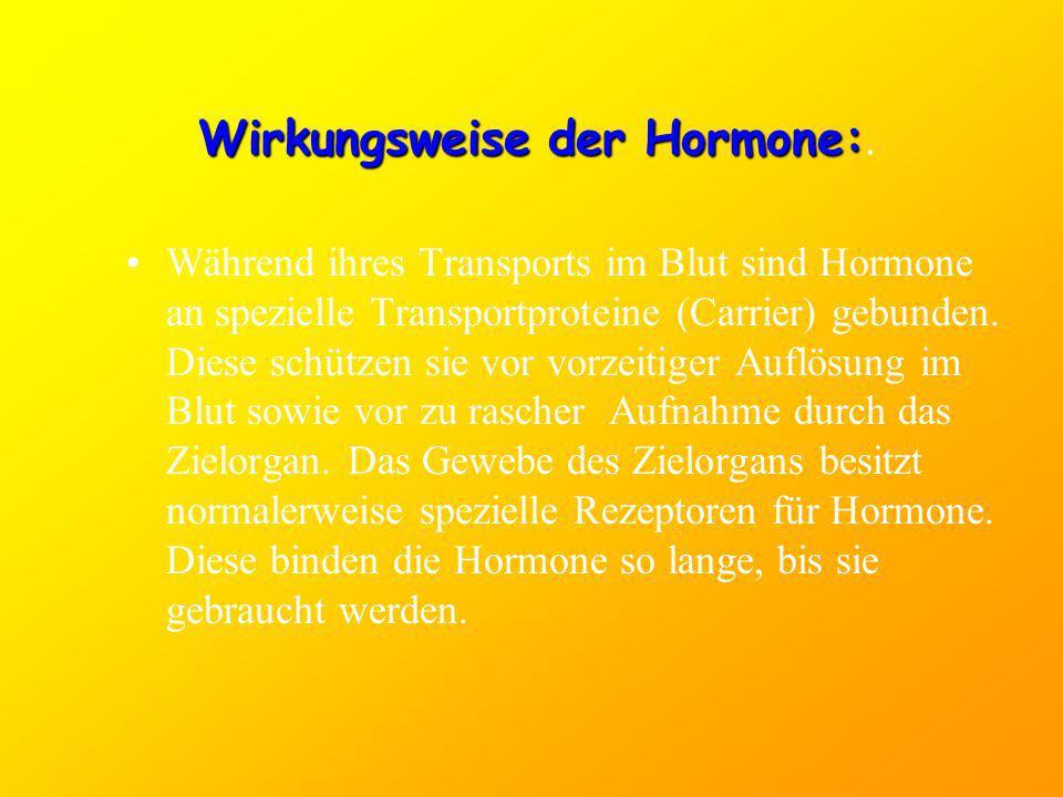 Wirkungsweise der Hormone:.