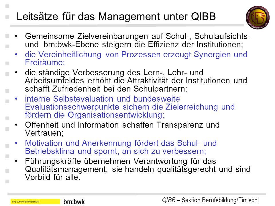 Leitsätze für das Management unter QIBB