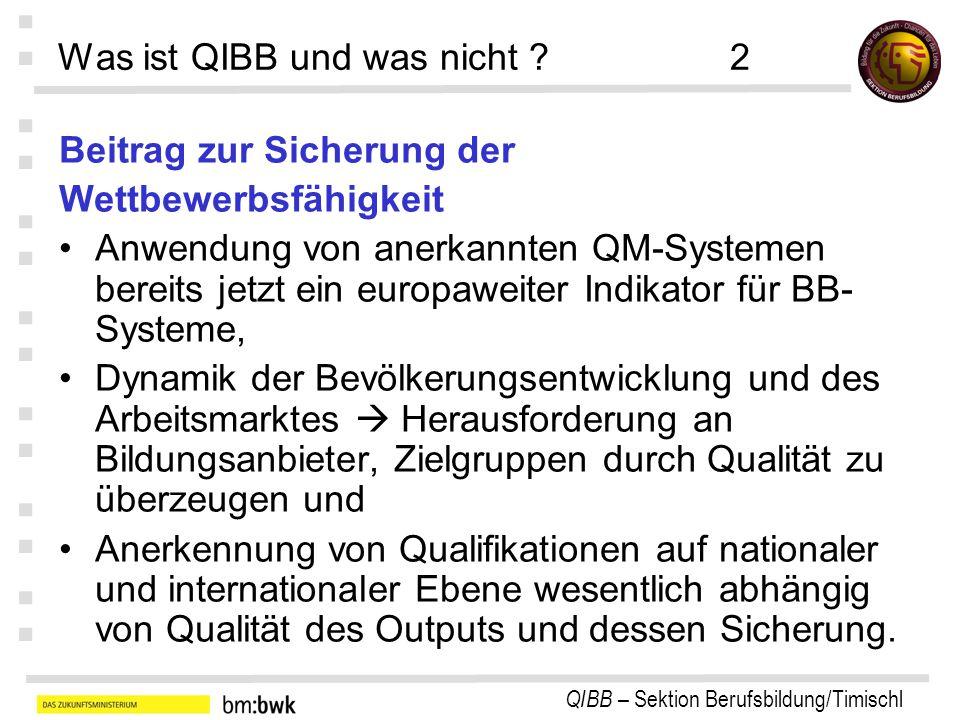 Was ist QIBB und was nicht 2