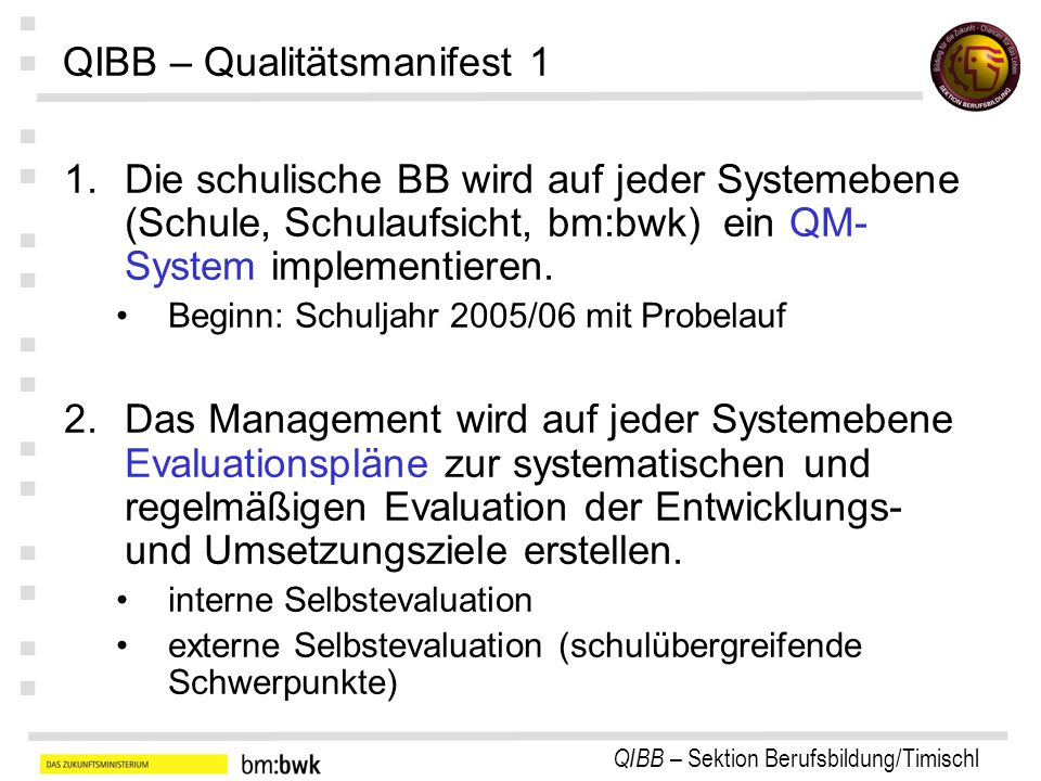 QIBB – Qualitätsmanifest 1