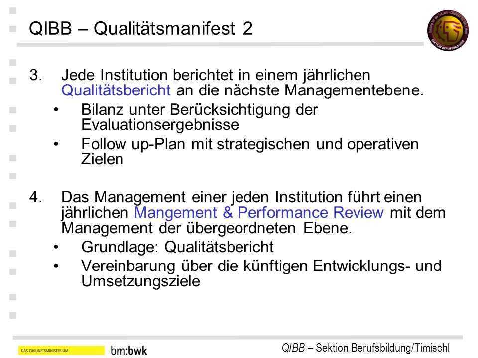 QIBB – Qualitätsmanifest 2