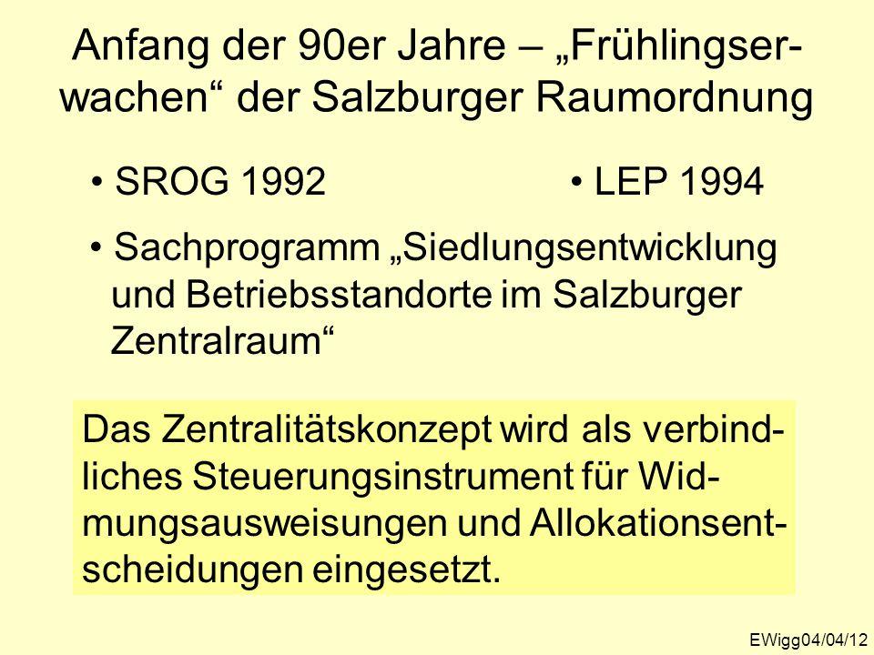 "Anfang der 90er Jahre – ""Frühlingser-wachen der Salzburger Raumordnung"